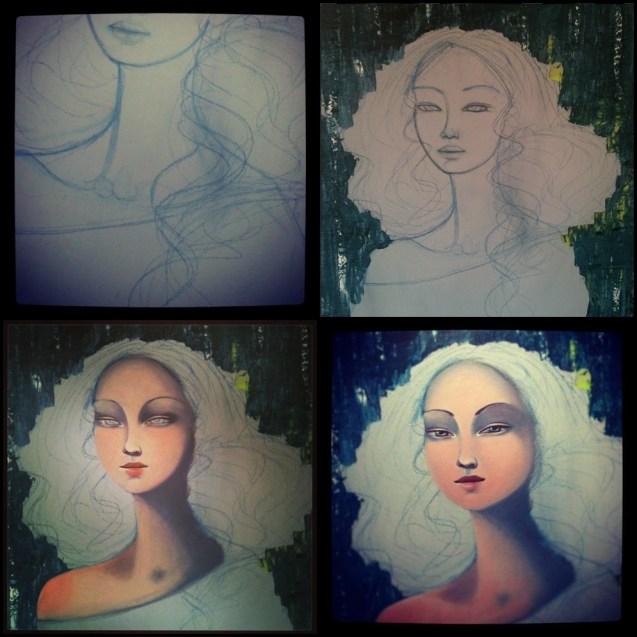0654 June Leeloo - Mona Lisa (sketchs)